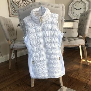 Michael Kors off white quilted vest